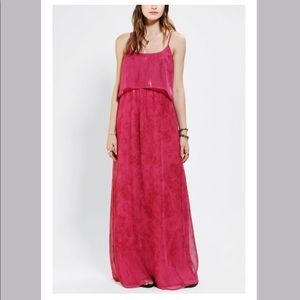 Anthropologie Staring at stars Open back maxi dres